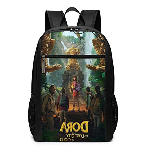 DO-R-A and The Lost City of Gold Backpack for Mens Bookbag Children Daypacks College Travel Backpack Schoolbag 17 Inch