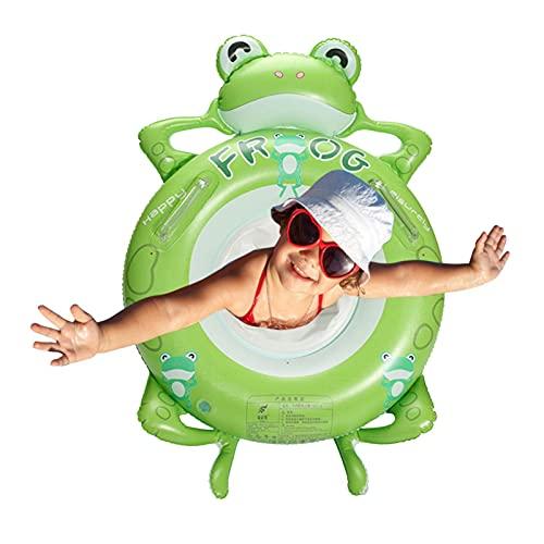 succeedw Anillo de natación de rana flotador inflable piscina flotador inflable anillos de natación bebé asiento barco para niños de 3 a 8 años
