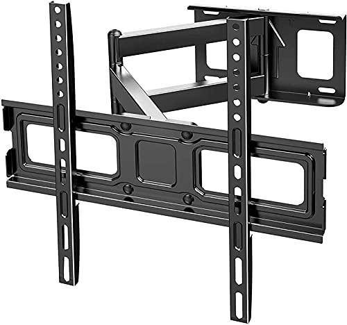 Soporte de pared para TV giratorio inclinable Soporte de TV de movimiento completo resistente para televisores de 32-70 pulgadas Sostiene hasta 50 kg como máximo 600X400 mm para sala de estar y dormi