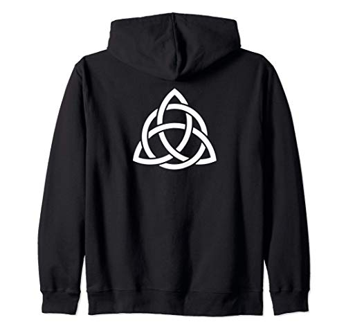 Triquetra Trinity Symbol Irish Celtic Knot Cheeky Witch Zip Hoodie