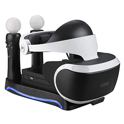CVBN Base de Carga para Cargador para Controlador de Juegos Sony PS4-VR, Negro
