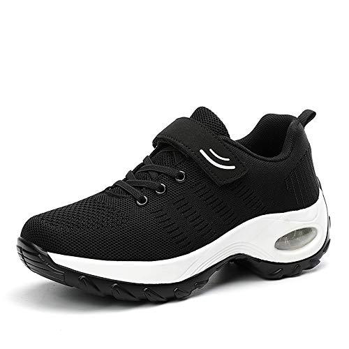 Super Lee Unisex Laufschuhe Sportschuhe mit Klettverschluss Outdoor Fitness Schuhe Hallenschuhe Leichte und Atmungsaktive für Herren Damen