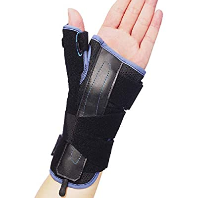 Velpeau Wrist Brace Thumb Spica Splint Support for De Quervain's Tenosynovitis, Carpal Tunnel Syndrome, Stabilizer for Arthritis, Tendonitis, Sprains, Sports Injuries Pain Relief (Left Hand-M)