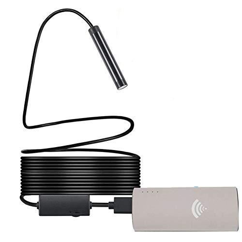 Endoscopio USB inalámbrico WiFi 5.0 megapíxeles 1200P HD impermeable cámara endoscopio compatible con Android y iOS/Windows/Mac/PC/iPad 8 mm IP68.
