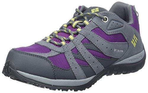 Columbia Fille Chaussures de Randonnée, Imperméable, YOUTH REDMOND WATERPROOF, Taille 38, Violet (Plum, Fresh Kiwi)