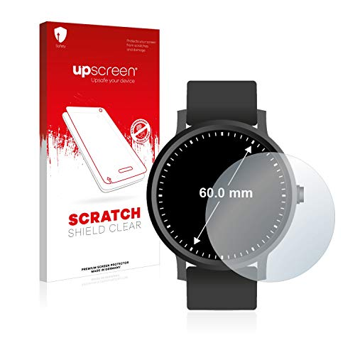 upscreen Schutzfolie kompatibel mit Armbanduhren (Kreisr&, Durchmesser: 60 mm) – Kristallklar, Kratzschutz, Anti-Fingerprint