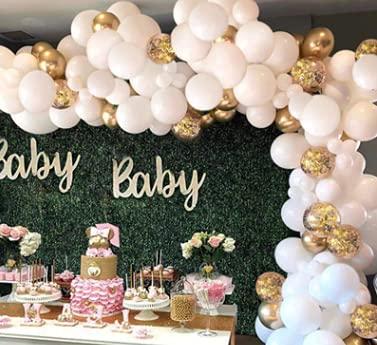 Runmeihe Baby shower Decorazioni , Kit di 125 palloncini con arco, per feste di compleanno, matrimonio, baby shower, laurea, Halloween, decorazioni per la casa