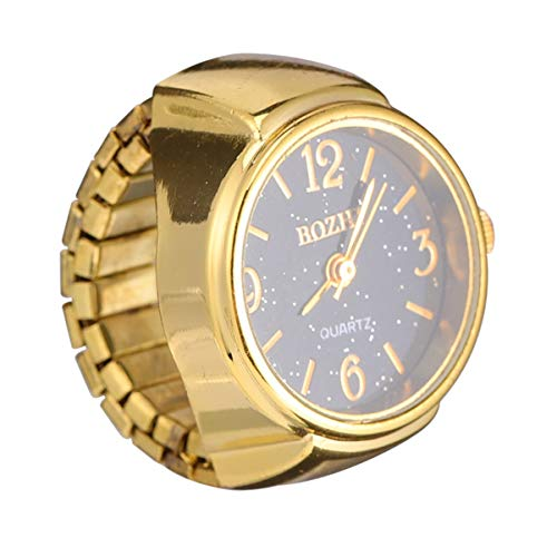 NICERIO Relojes de Anillo Reloj de Dedo de Cuarzo Elástico Vintage Relojes de Anillo de Dedo de Cuarzo Redondo para Hombres Mujeres