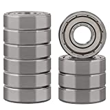 XiKe 10 Pcs 6001ZZ Double Metal Seal Bearings 12x28x8mm, Pre-Lubricated and Stable Performance and Cost Effective, Deep Groove Ball Bearings.
