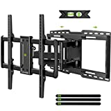 USX MOUNT Full Motion Articulating TV Mount with Sliding Design for TV Centering, Holds up to 150lbs, Swivel, Tilt, fits for 32-90' TVs, Max VESA 600x400mm, Arms for 16', 18', 24' Studs