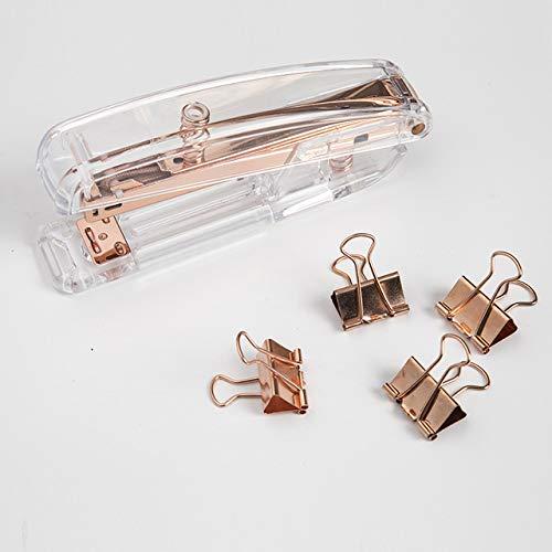 Acrylic Stapler,Desk Stapler,Office Stapler,Non-Slip, Stapler for Office and Home ,25-Sheet Capacity (Rose Gold) Photo #4
