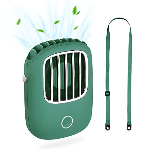 Portable Mini Fan Havit Rechargeable Handheld Fan USB Small Personal Battery Operated Neck Fans Hand free for Women Kids Girls Man Teens Desk Outdoor Travel Office Household (Green)