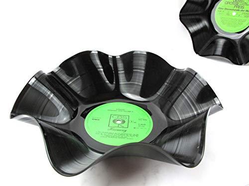 Schale aus Schallplatten - grün