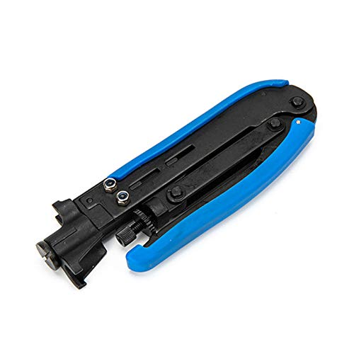 Cutogain Koaxialkabel-Crimper Koax-Kompressionswerkzeug F-Stecker langlebig für RG59 RG6 RG11, Crimping Pliers