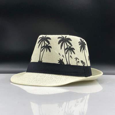 XIAMAZ Fashion zomer strohoed voor mannen in Britse stijl zonnehoed grote cap strandhoed strohoed reishoed zonnehoed zonnehoed