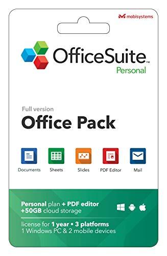 OfficeSuite Personal Compatibile con Microsoft® Office Word® Excel® , PowerPoint® e Adobe® PDF - 1 anno di licenza per 1 Pc Windows e 2 Dispositivi Mobili