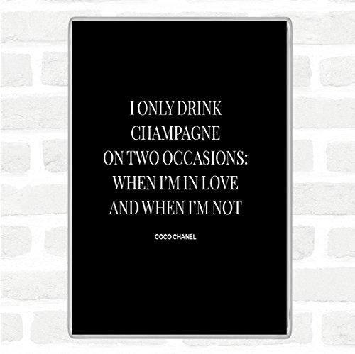 Coco Chanel Champagne Quote Jumbo Koelkast Magneet