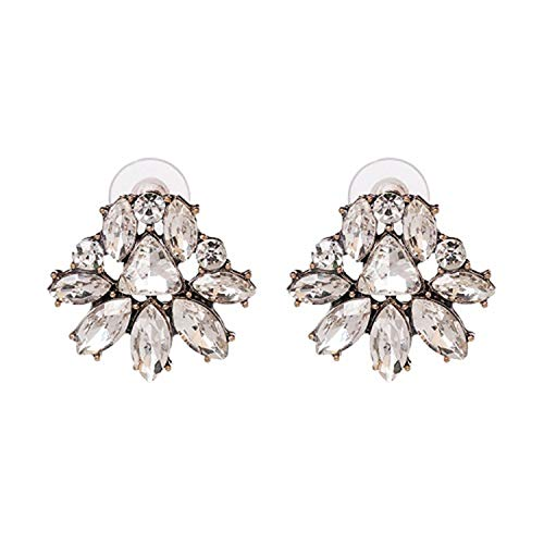 Presock Pendientes Mujer,Aretes Good Quality Wholesale New Vintage DROPS Earrings Fashion Women Statement Crystal Dangle Earrings For Women 51481-WH