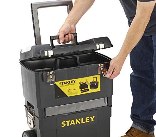 STANLEY 1-93-968 - Taller móvil para herramientas 2 en 1, 47,3 x 30,2 x 62,7 cm