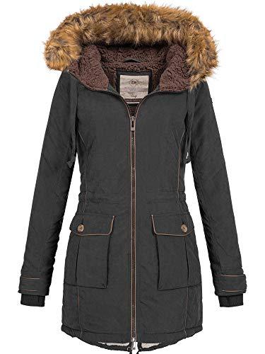 URBAN Surface Donna Giacca Invernale Cappotto corto Parka Cappuccio Teddyfleece 44392a