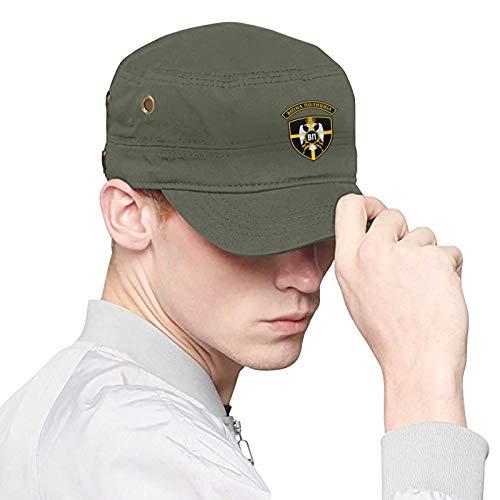 Emblem of Serbian Military Police Men's Women's Cotton Flat Top Cap...