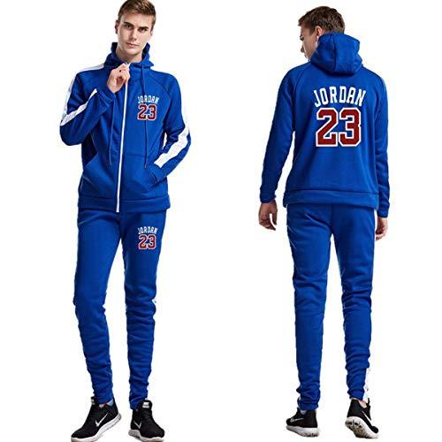 Mens Jordan trainingspak Set Trainingspak Zipper Hoodie & Bottom Jogging Suit Jacket Sports Gym Broeken Broeken Casual Outfits,D,M