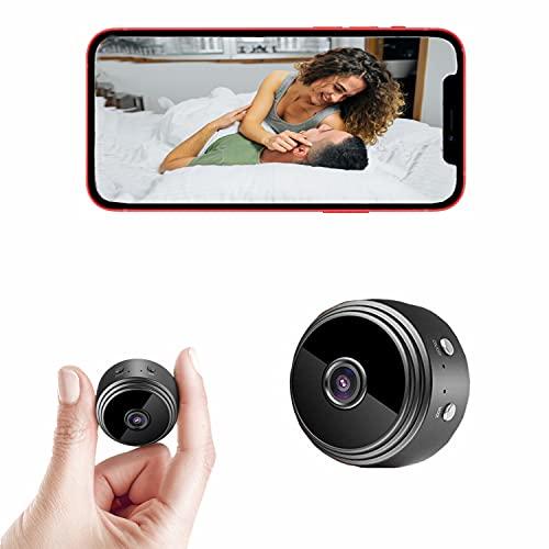 Mini Spy Camera - Hidden Camera - Wireless WiFi Camera with Remote View - Spy Camera 1080p with Night Vision and Motion Detection - Hidden Nanny Cam - Hidden Spy Cam - Surveillance Camera Full HD