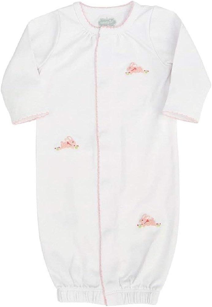 Mud Pie Baby Girls Bunny French Knot Sleepwear Gown