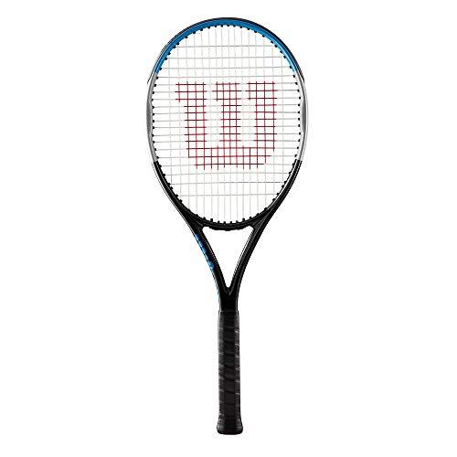 Wilson Racchetta da Tennis Ultra Team V3.0, per giocatore amatoriali, Geometria e potenza, Nero Argento Blu, WR046210U1