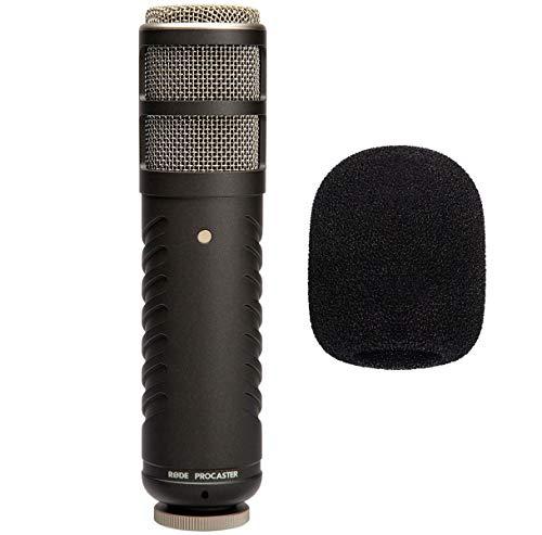 Rode Procaster - Micrófono de altavoz y protector de viento de espuma keepdrum WS02