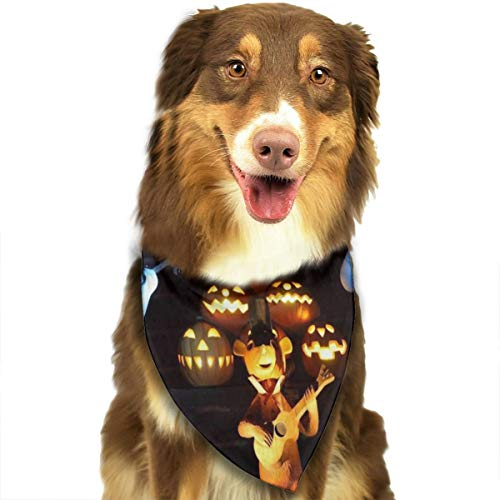 Sitear Halloween Geesten Pompoenen Muziek Gitaar Hond Kat Bandana Driehoek Bibs Sjaal Huisdier Geschikt voor Kleine Tot Grote Hond Katten
