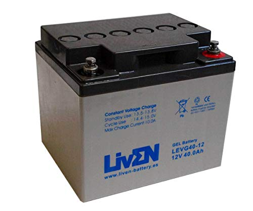 Batería de Gel 12V 40Ah | Aplicaciones Solares | Ciclo Profundo Sin Mantenimiento | Larga Vida Útil