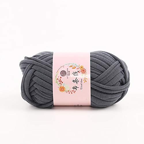 JAP768 Camiseta voluminosa Hilado Ajuste for Tejer a Mano Alfombra de Tejer Trampa Crochet Bricolaje Bolso Manta Suave Gruesa Tela trapillo Hilado (Color : Gris Oscuro)