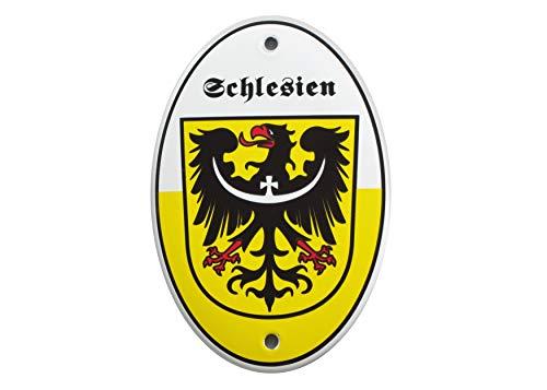 Emailschild WAPPEN SCHLESIENS 15x10 cm Schlesischer Adler | Wappentier | wetterfest | Schild Emaille