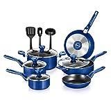 NutriChef 13 Pcs. Nonstick Kitchen Cookware PTFE/PFOA/PFOS-Free Heat Resistant Kitchenware Set...