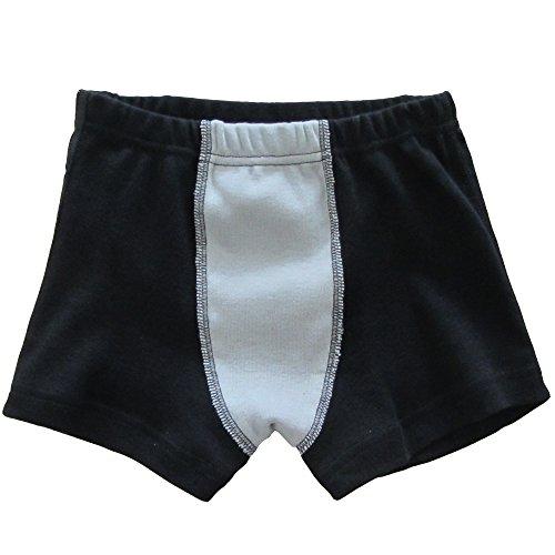 HERMKO 2930 Knaben Pant 100% Bio-Baumwolle, Jungen Boxer Boxershorts mit Bein, Unterhose direkt vom Deutschen Hersteller, Größe:128, Farbe:Bordeaux/Marine