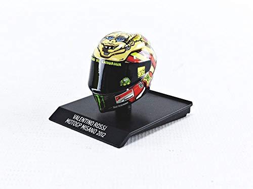 Minichamps 315120096 - Helm Valentino Rossi Motogp Misano 2012 - maßstab 1/10 - Modell Auto