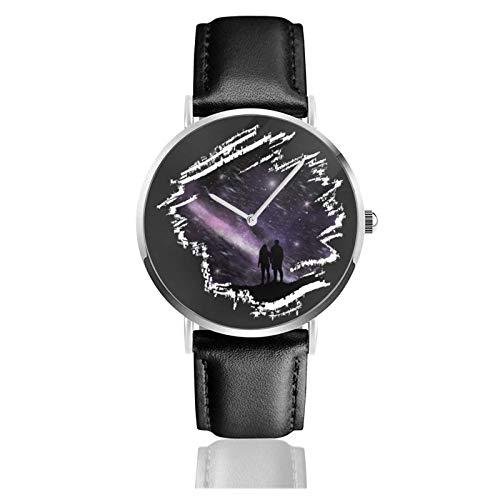 Relojes Anolog Negocio Cuarzo Cuero de PU Amable Relojes de Pulsera Wrist Watches Espacio Fresco