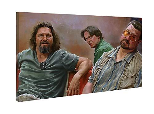 Quadro Moderno - Il Grande Lebowski - Stampa su Tela Canvas 48x30cm - Cinema - Film Cult - Quadro Pronto da Appendere - Decorazione Interni - Idea Regalo