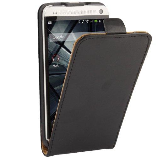 ZAORUN Cubiertas Protectoras de Cellphone Funda de Cuero con Tapa Vertical Compatible for HTC One / M7