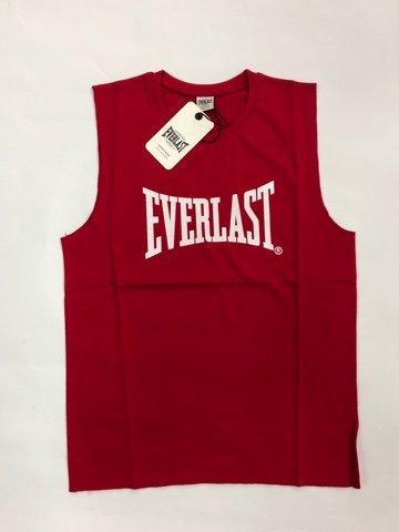 Everlast Chaleco de hombre de algodón con impresión grande, rojo, M