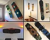 Clipboart ® Standard Wandhalterung aus Eiche für Longboard Snowboard Wakeboard Kiteboard Die Halterung für eine horizontale, vertikale, oder diagonal Wandmontage von Deinem Board.