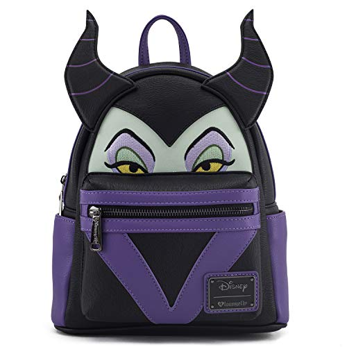 Loungefly Disney Maleficent Faux Leather Cosplay Womens Double Strap Shoulder Bag Purse