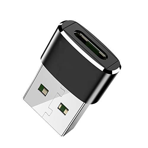 MARIJEE 3-Stück USB C Buchse auf USB Stecker Adapter, Typ C auf A Ladekabel Adapter Den Kompatibel Mitlaptops Power Banks Ladegeräten Und Allen Geräten mit Standard USB-A-Anschluss (B)
