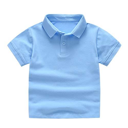 tee-shirt, Mamum Filles Top Enfants Manches Longues Filles Garçons T-Shirt Pull (Bleu clair, 130(4-5Ans))
