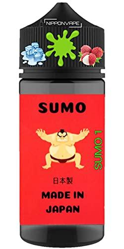 100ml 国産 電子タバコ リキッド グリーン ライチ メンソール SUMO ニコチンゼロ プレミアム 美味しい シリーズ (GREEN LYCHEE MENTHOL) (SUMO 1, 100ml)