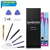 Batterie 1560mAh pour iPhone 5S et iPhone 5C, Janbotek Batterie de Remplacement Capacité Standard Original 1560mAh pour...