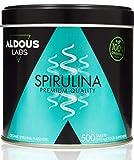 Alsous Bio Espirulina Ecológica Premium, 600 comprimidos de 500mg con 99% BIO Spirulina, Vegano