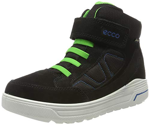 ECCO Jungen URBAN Snowboarder Hohe Sneaker, Schwarz (Black/Black/Clover 51626), 32 EU
