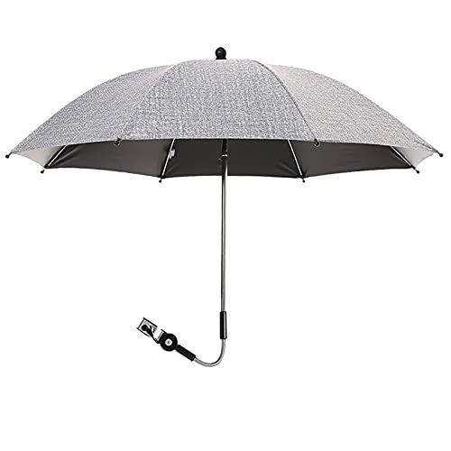 Dihope Kinderwagen Regenschirm Buggy Universal Sonnenschirm für Kinderwagen 50+ UV Sonnenschutz für Babys und Kleinkinder undurchsichtig Regenschirmgriff verstellbar …
